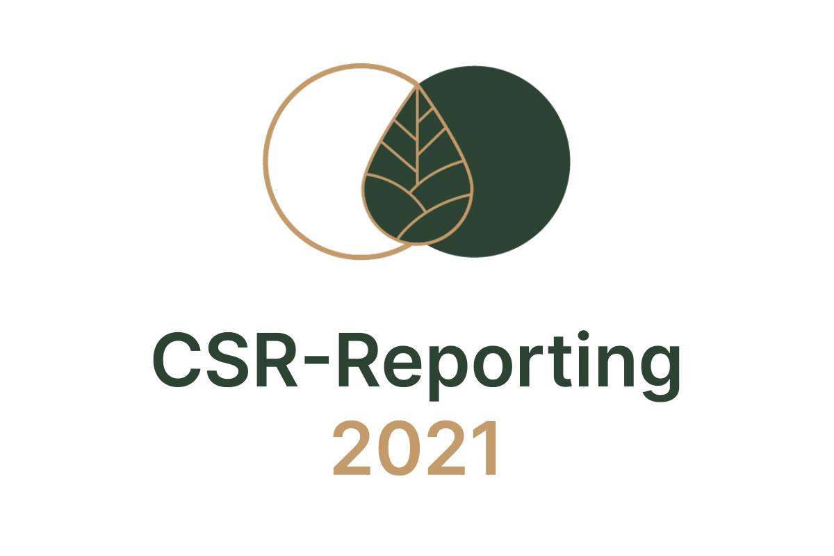 retopia Icon, darunter folgender Schriftzug: CSR-Reporting 2021